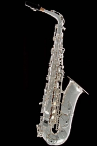 Silver-Plated Vintage Alto Saxophone