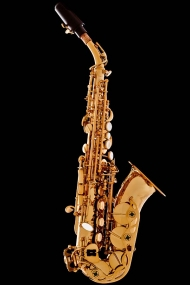 Honey Gold Lacquer Curved Soprano Saxophone