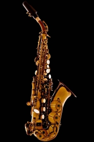 Vintage Gold Lacquer Curved Soprano Saxophone