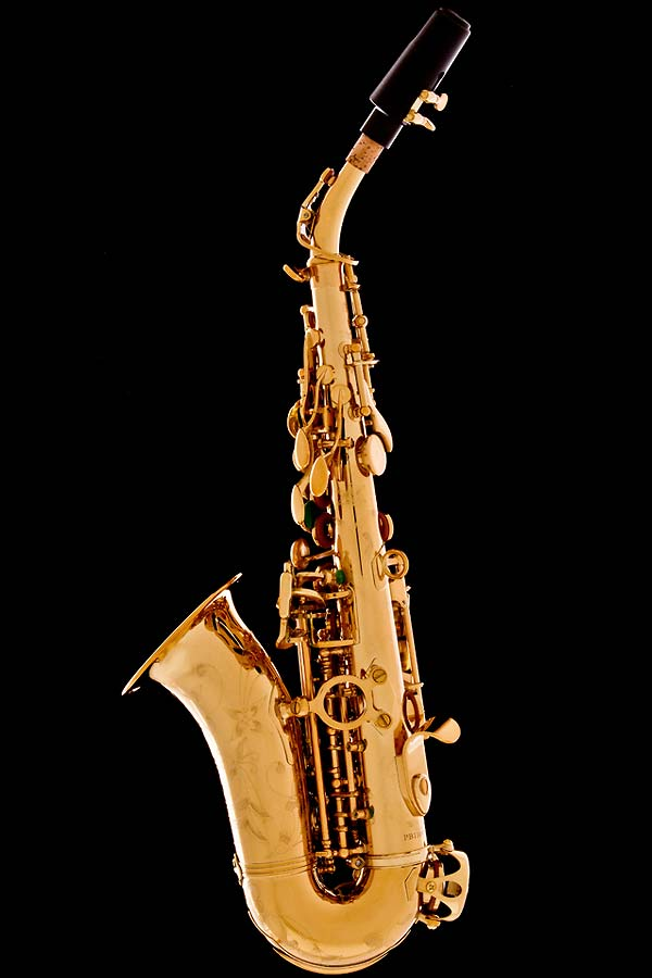 Honey Gold Lacquer Curved Soprano Saxophone - Honey Gold-Lacquered